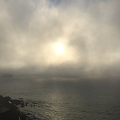 Late afternoon Fog in Mazatlan.