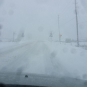 Very poor highway maintenance today. Coming back from Sudbury.