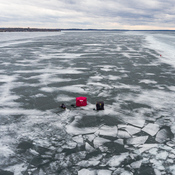 Thinning ice on lake Simcoe