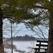 Snow Fog on Hirtle Lake, NS