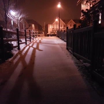 Snow at midnight