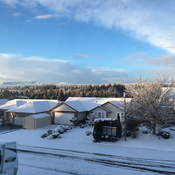 Beautiful snowy morning in CR.