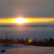 ice fog at sunrise over the St John River