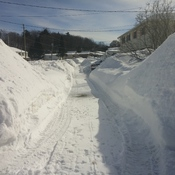 Walking Through Snow Banks in Elliot Lake