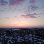 Sunrise moment in Lindsay Ontario at 50 meters up