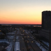 Ottawa Summer like Sunset in February