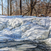 Frozen Ivey's Dam Waterfall