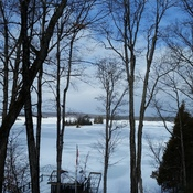 winter sky on Stoney Lake