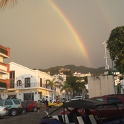 rainbow over PV