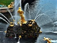 Two of the many Fountains at Peterhof Palace