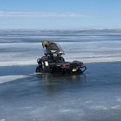 Thin ice lake Winnipeg