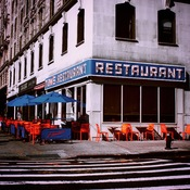 The classic Seinfeld restaurant in New York.