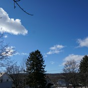 blue skies over penetanguishene ontario