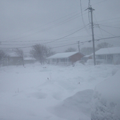 Blizzard in New Waterford, Cape Breton at 9:21am