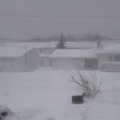 blizzard in New Waterford Cape Breton