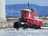 breaking up the ice at the local elevator slips - 531 Shipyard Rd, Thunder Bay, ON P7A,