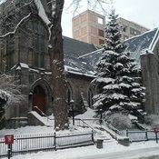 Snow in Montreal St Jax church