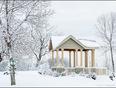 Snowstorm creates fairy tale scene in Dorval, Quebec - Millenium Park, Lakeshore Drive, Dorval, QC
