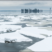 Cold beauty - Spring ice breakup in Dorval, Quebec