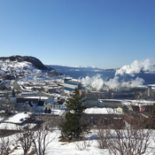 beautiful veiw of Corner Brook from Three Bear Mountain walking trail