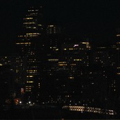 City of Calgary during EARTH HOUR.