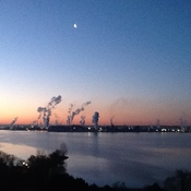 A cool crisp morning looking across the bay from LaSalle Towers
