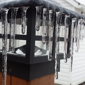Frozen deck light.