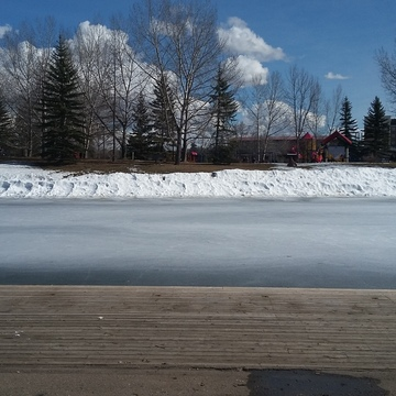 beautiful day at bower ponds