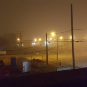 Fog in Moose Jaw 12:01 a.m.(Rocket Cam)
