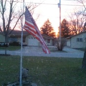 Old Glory at sunset.
