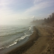 Misty Lake Erie Shores