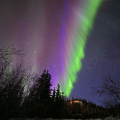 Northern Lights over Old Crow