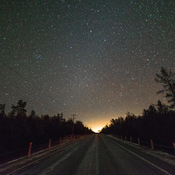Sparkling stars in cottage country in Winter