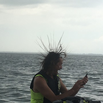 on the lake when storm about to hit