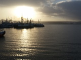 Sun breaking thru on the Digby wharf - Digby, NS