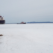 ALGO LAKE BEING TOWED OUT OF ITS BERTH