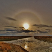 Sun dog reflection