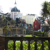 Portmeirion, N. Wales - designed in the style of an Italian village.