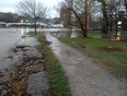 High lake levels in Oakville
