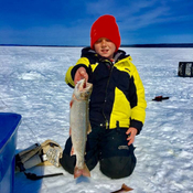 Ice Fishing in Lake Melville