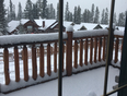 Snow keeps falling - Canmore, AB, CA