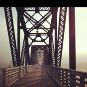 Perfect Picture Of The Fog On The Old Train Bridge