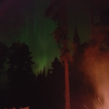 fire northern lights