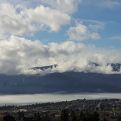 Clouds on Okanagan Lake