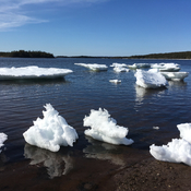 Mini icebergs at the Shore