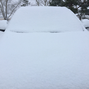 7 cm of snow. West Central Sask