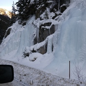 Frozen in time. Route to Whistler BC