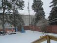 snow now instead of rain - Thunder Bay, ON
