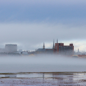 Foggy evening in Charlottetown