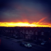sunset in Vaughan, Ontario